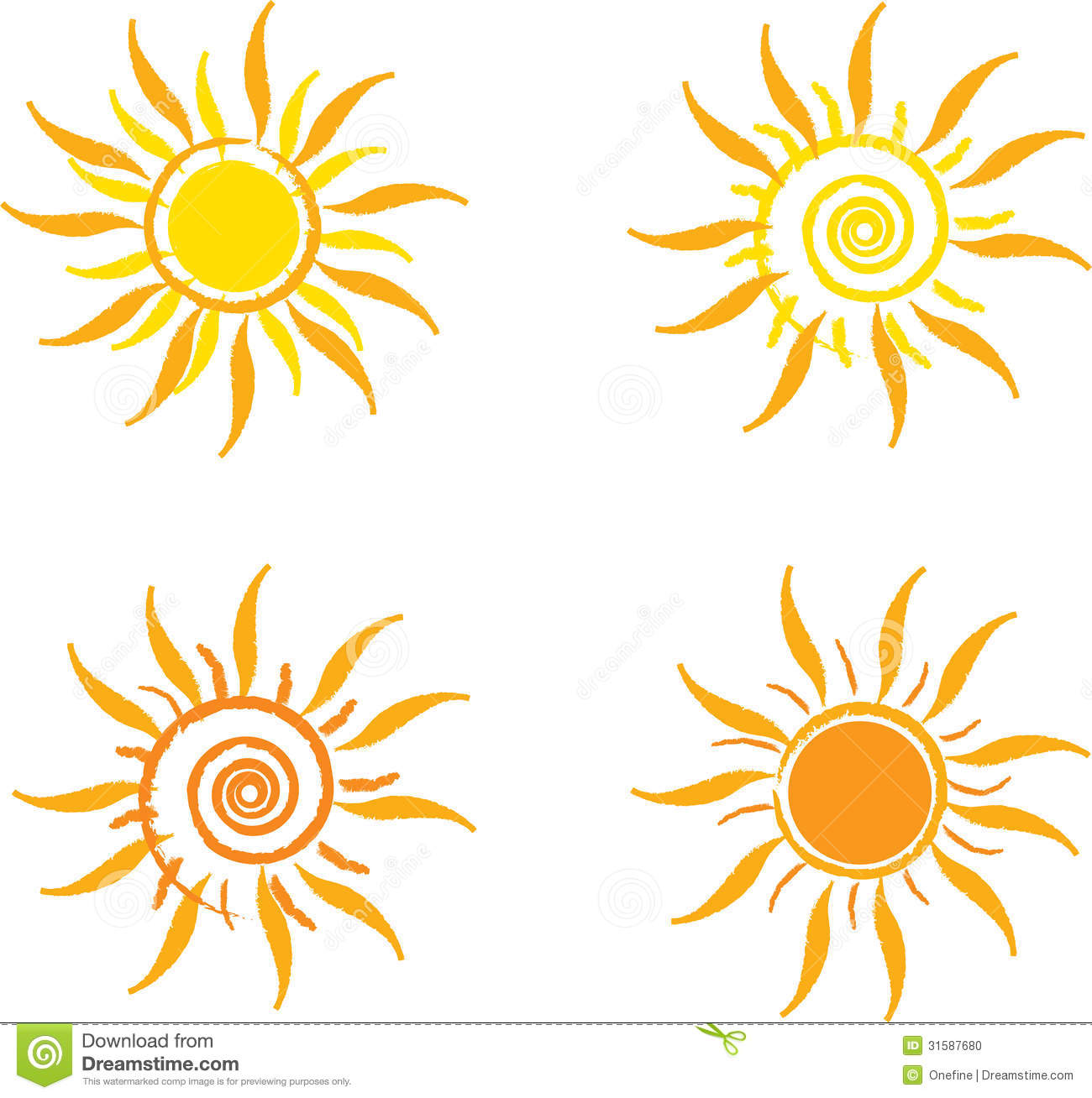 Four Suns Stock Photo - Image: 31587680