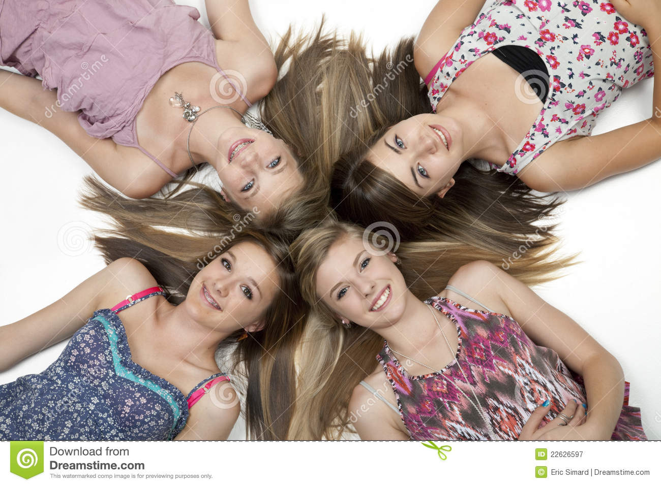 Four Teen Girls Royalty Free Stock Photography Image