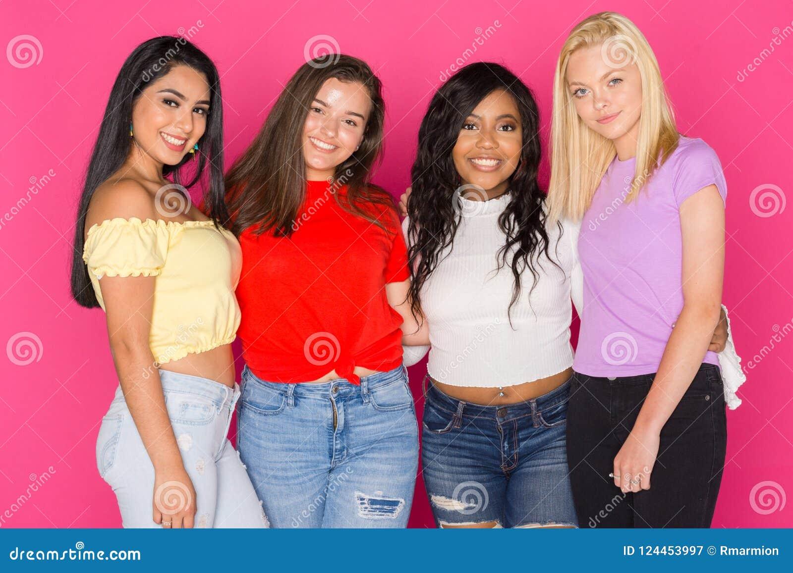 teen together Black girls