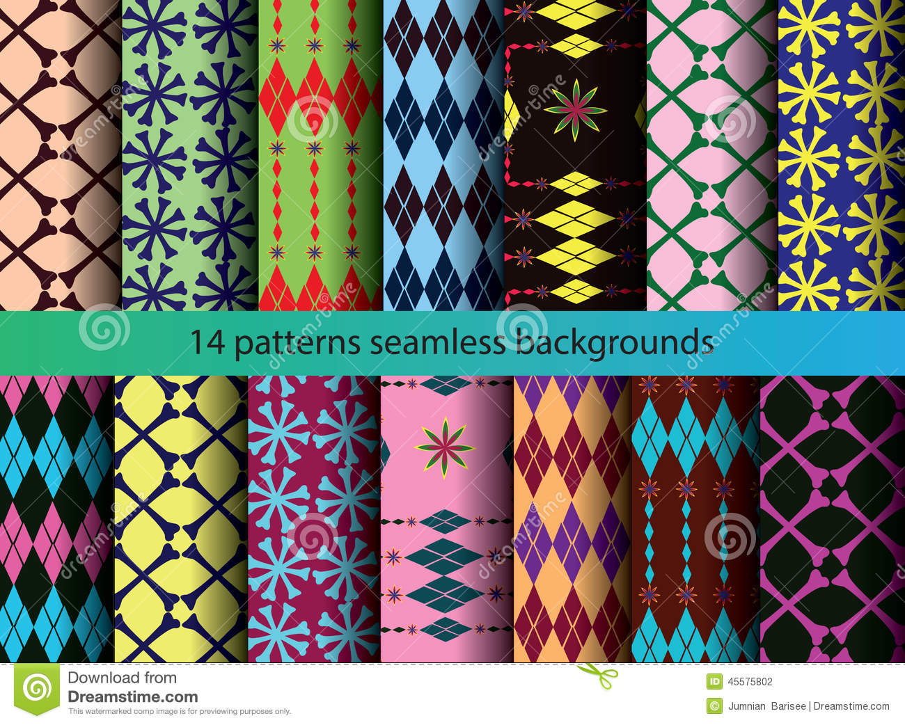 Four tine patterns backgrounds