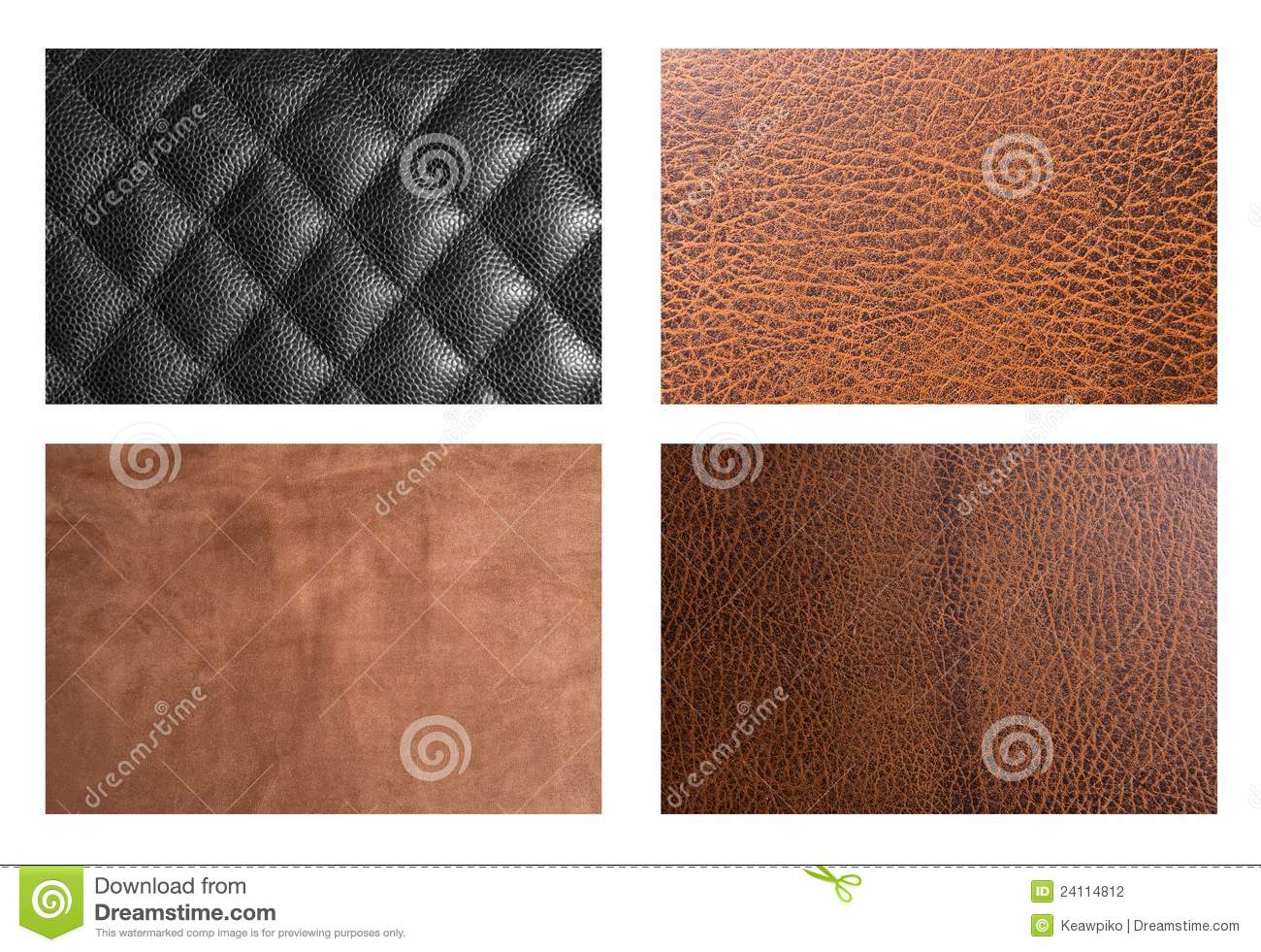 Four types of leather stock photo. Image of blank c2409648c8b6b