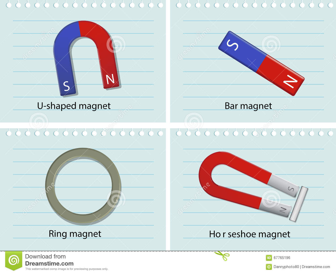 Four Types Of Magnets Stock Vector - Image: 67765196