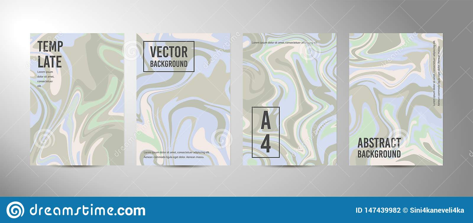 Four vector abstract background A4. Marble texture