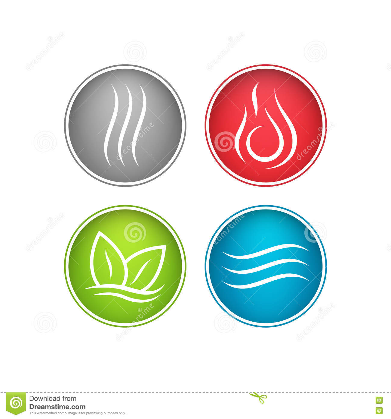 Four Vector Elements Icons Stock Vector Illustration Of Clean