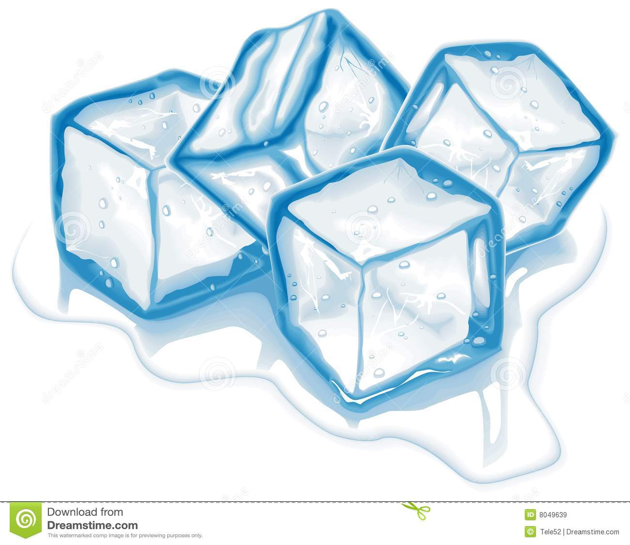 four vector ice cubes stock vector illustration of purity 8049639 rh dreamstime com ice cube clipart b & w ice cube clipart images