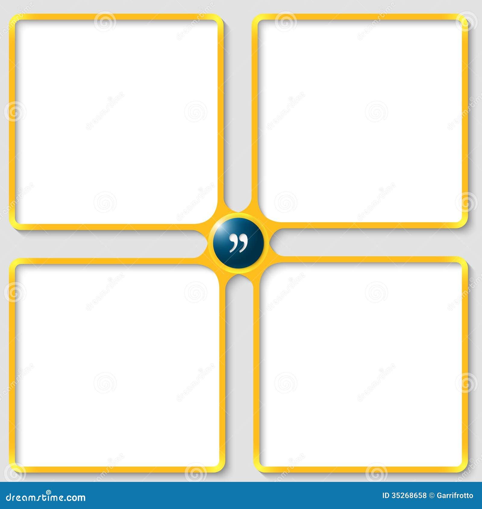 Four Vector Text Frame Royalty Free Stock Photos - Image: 35268658