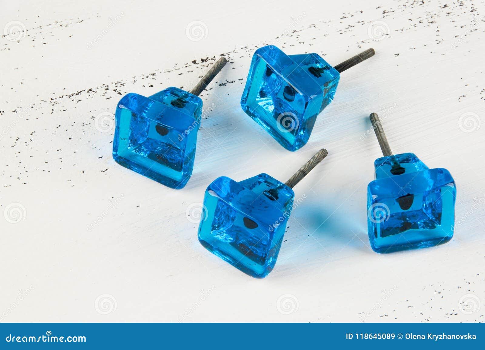 Vintage Blue Glass Door Handle Stock Image Image Of Background