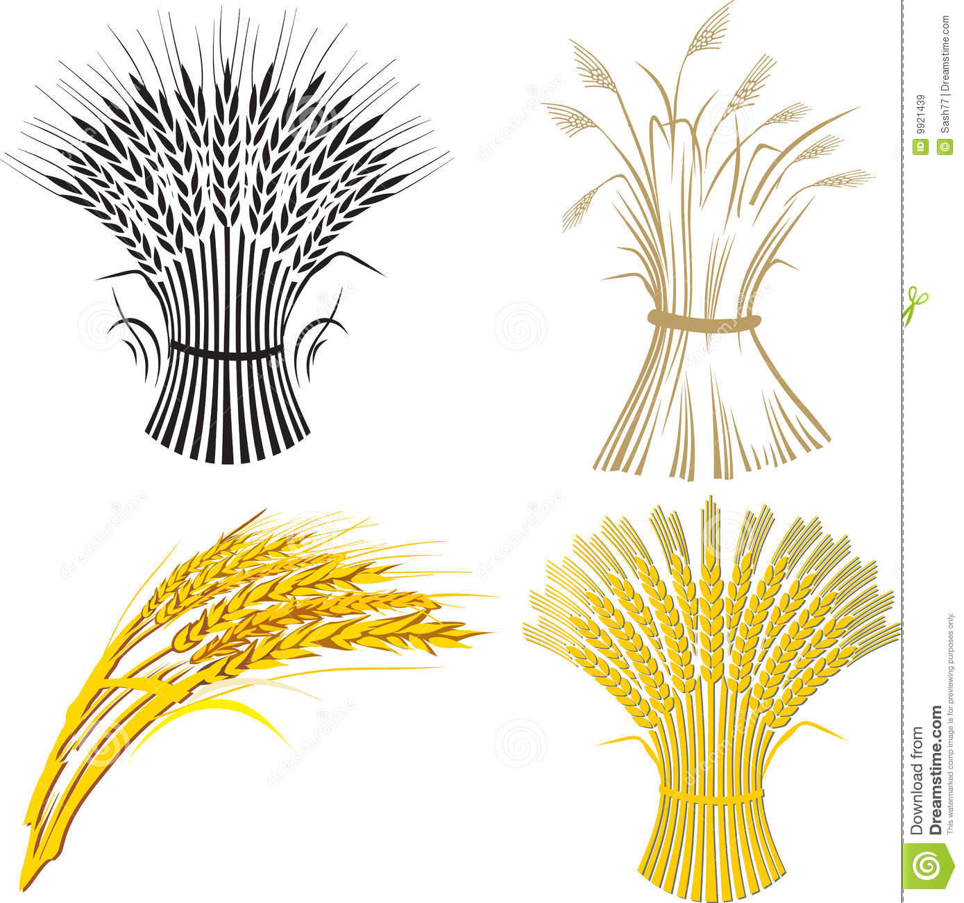 Four Wheat Sheaf Royalty Free Stock Images - Image: 9921439