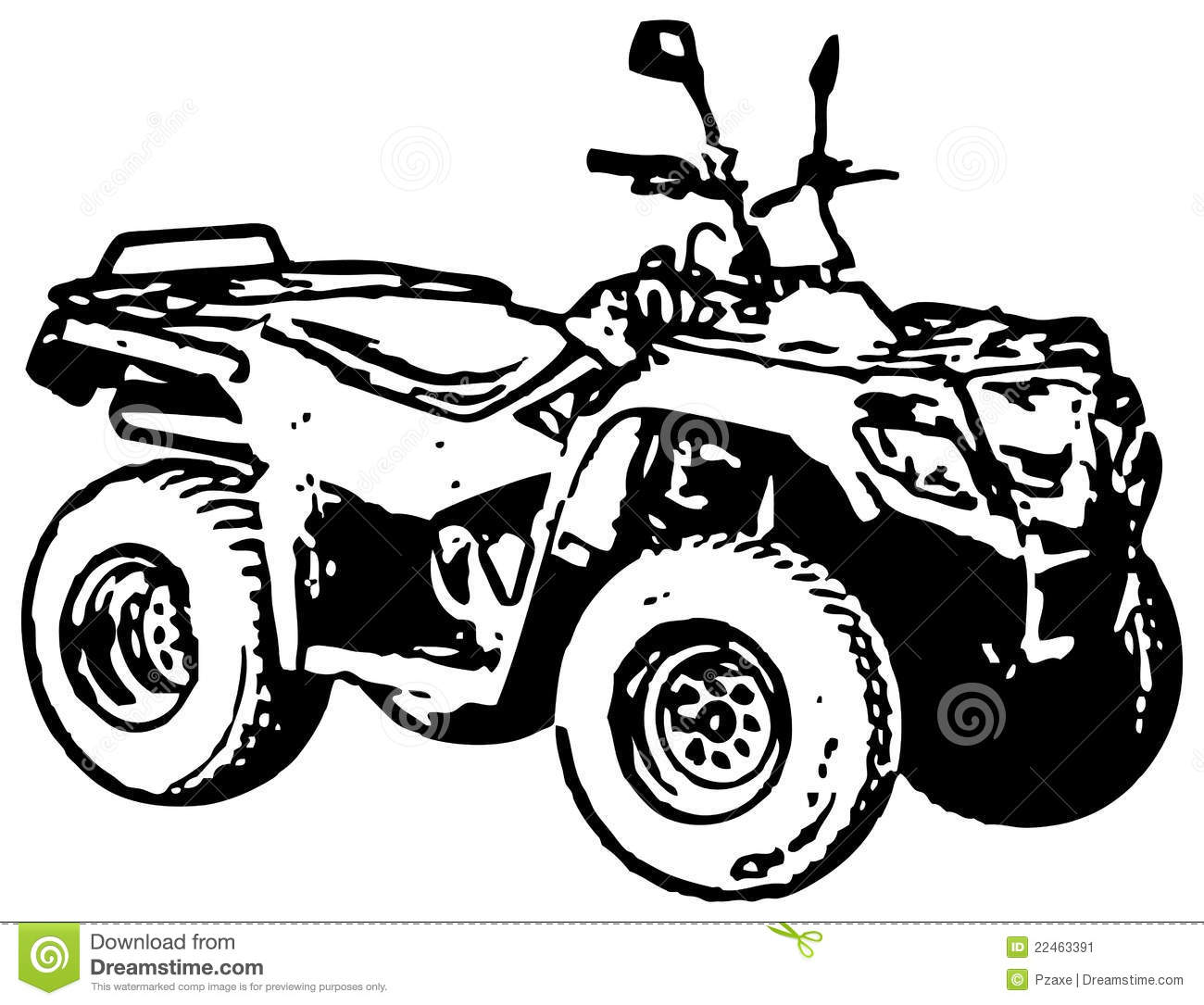Quad bike clipart