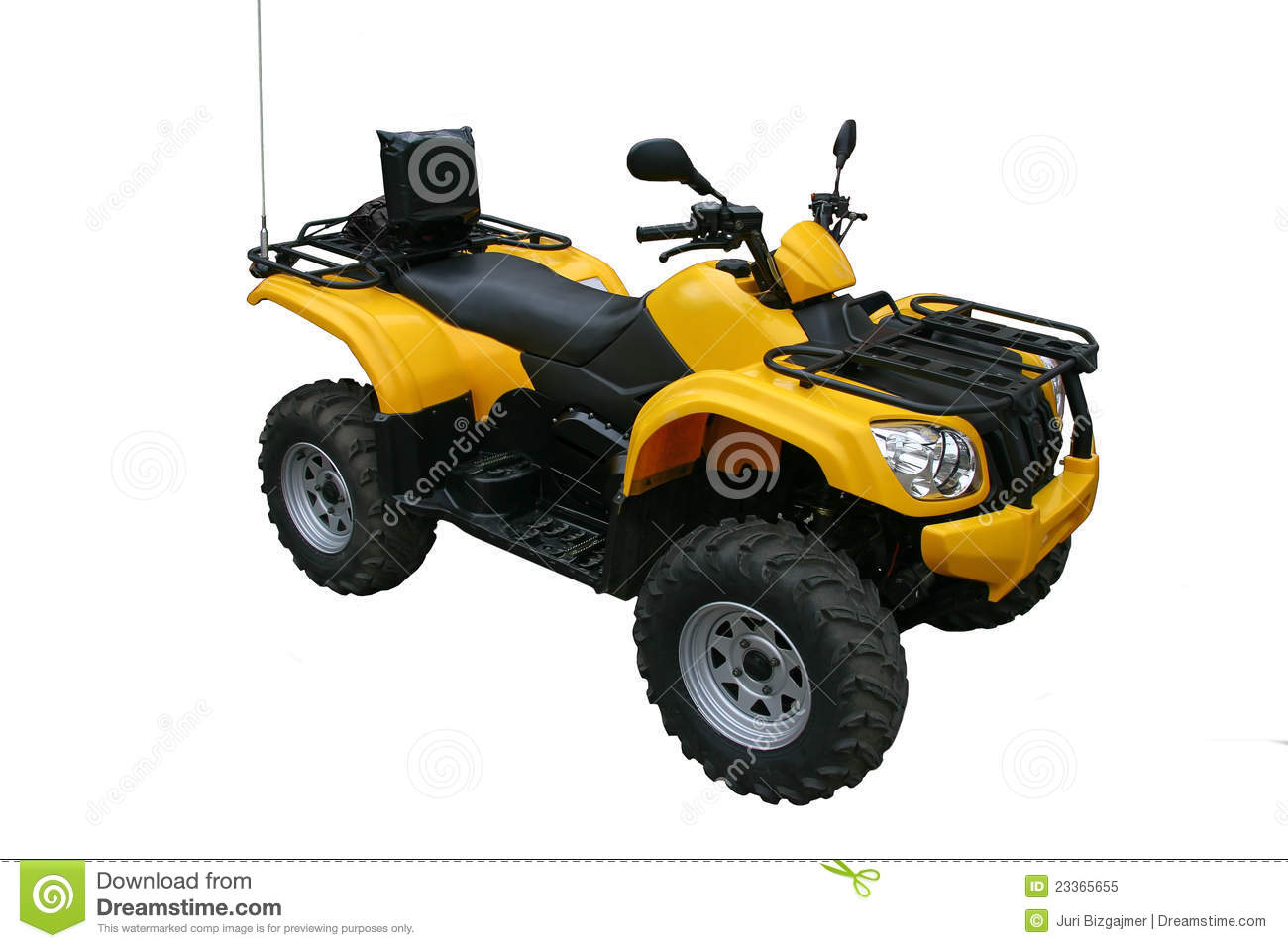 Four Wheel Motorcycle Isolated Royalty Free Stock Photo