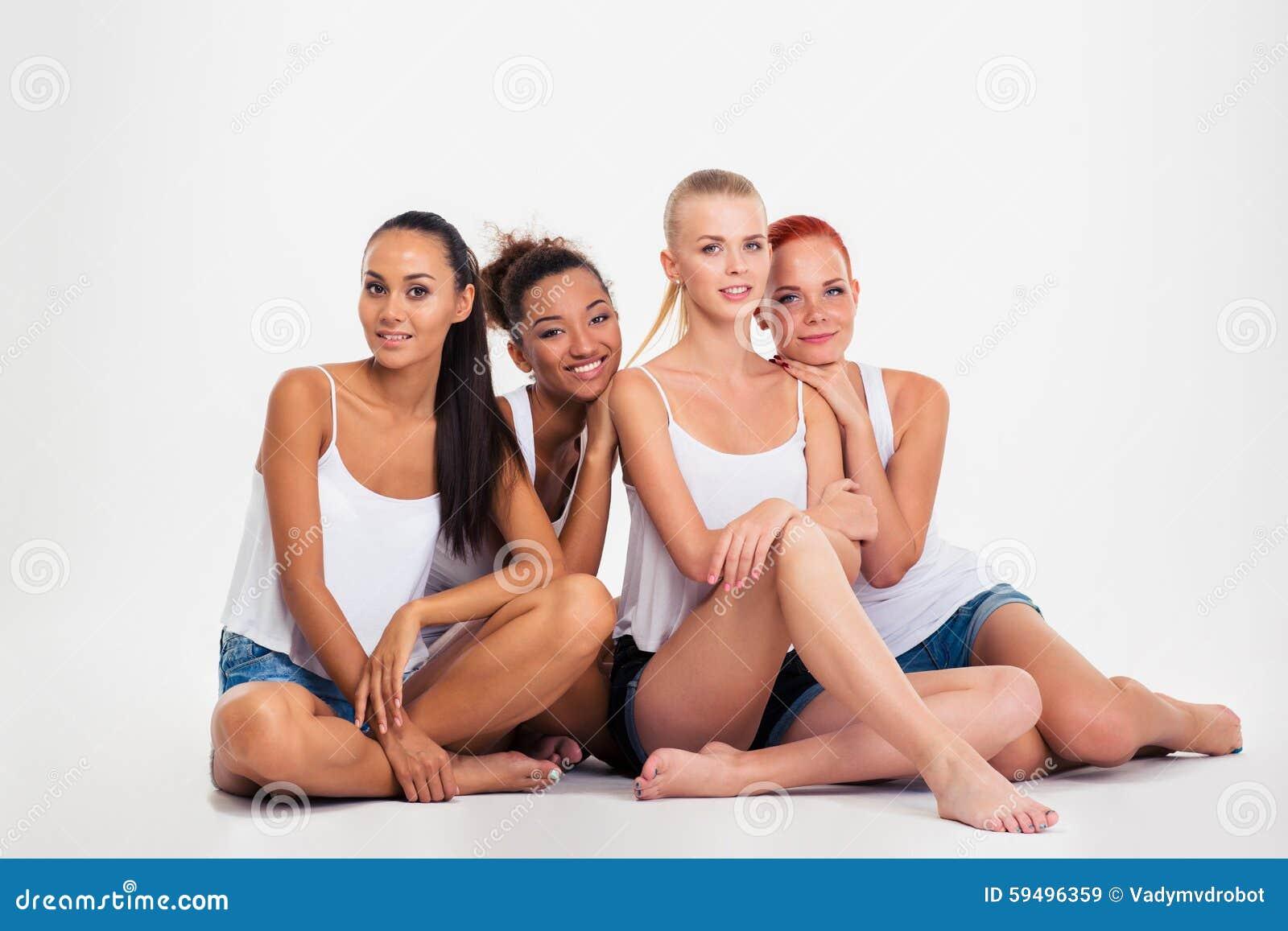 https://thumbs.dreamstime.com/z/four-women-sitting-floor-portrait-happy-multi-ethnic-isolated-white-background-59496359.jpg