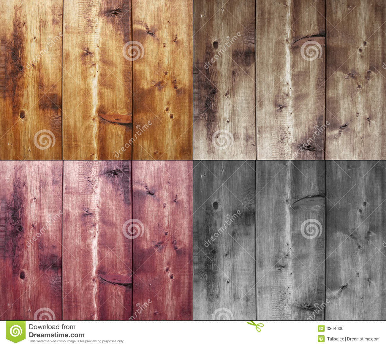 Four wood backgrounds