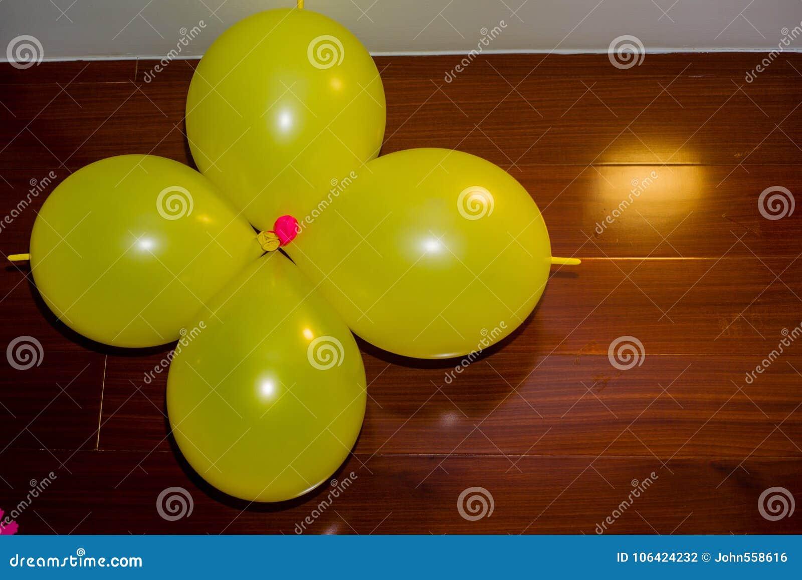 The yellow balloons