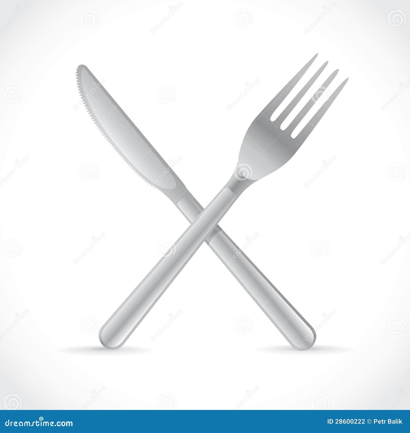 fourchette crois e au dessus de couteau illustration stock image 28600222. Black Bedroom Furniture Sets. Home Design Ideas