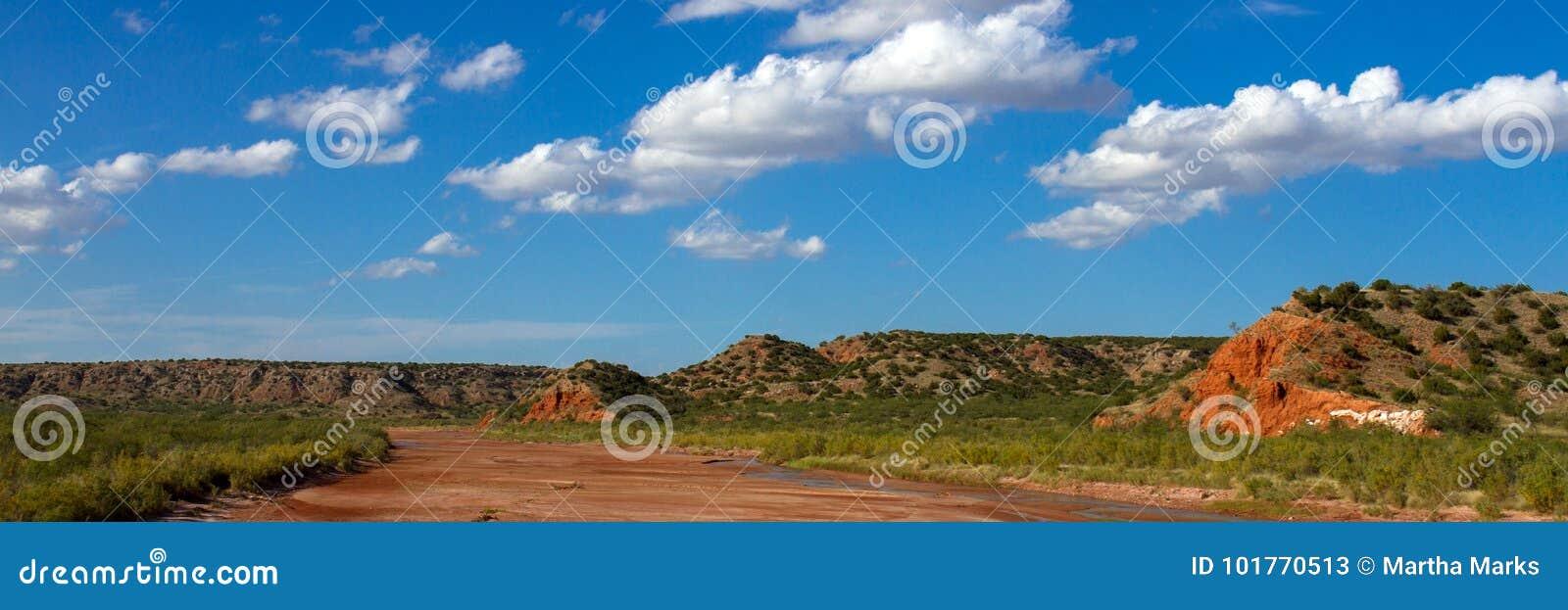 Fourchette de ville de chien de prairie de la rivière rouge