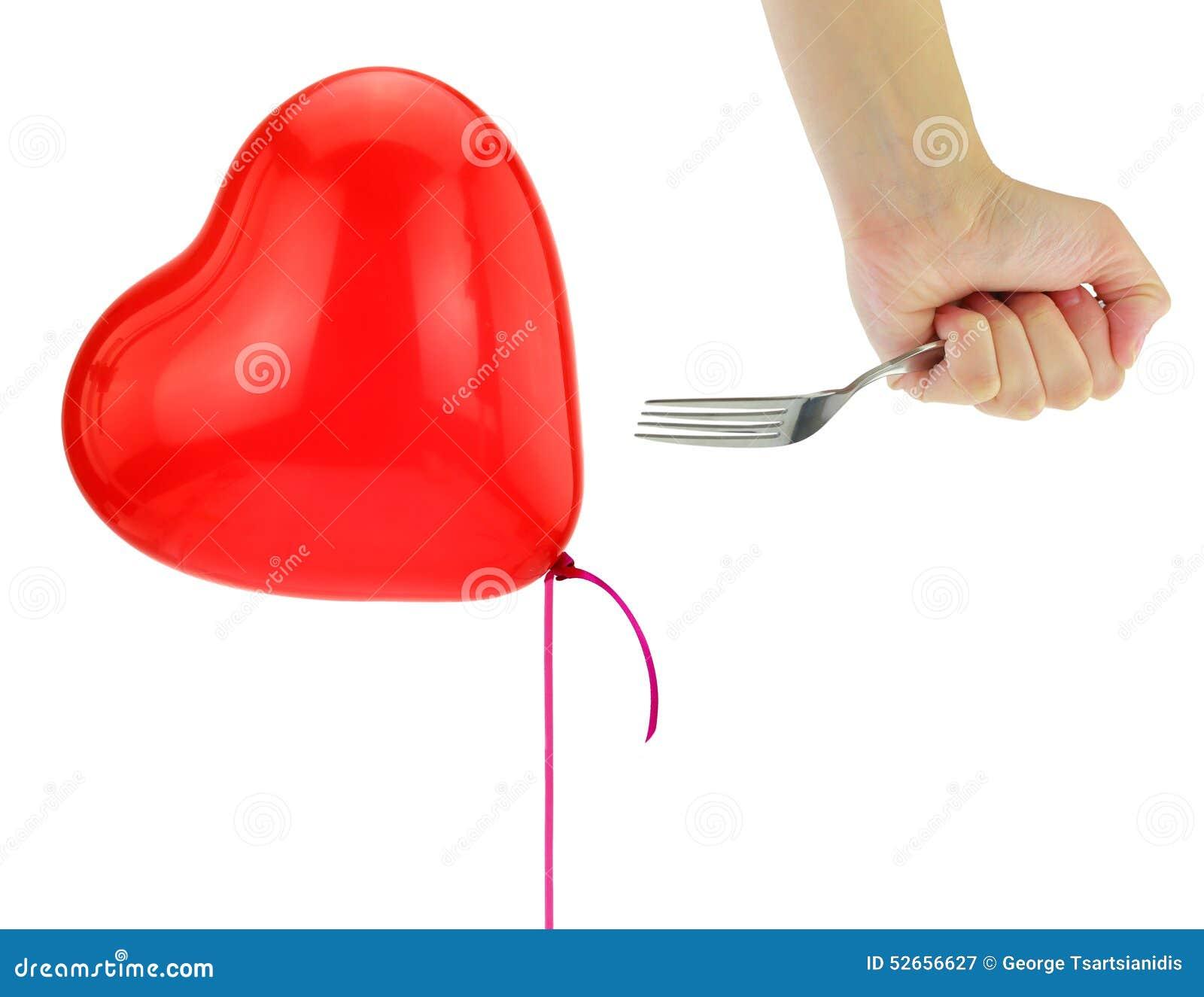 Fourchette environ pour sauter un ballon de coeur