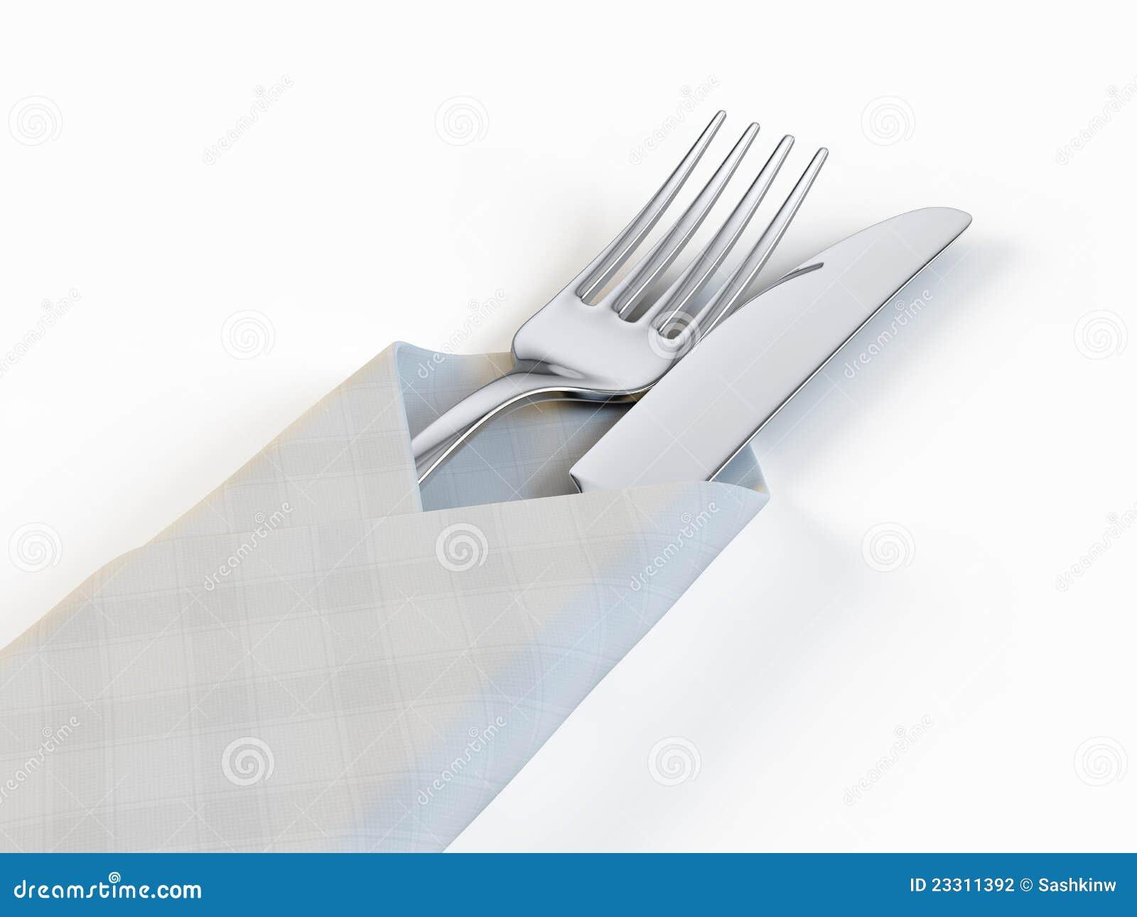 fourchette et couteau illustration stock illustration du domestique 23311392. Black Bedroom Furniture Sets. Home Design Ideas