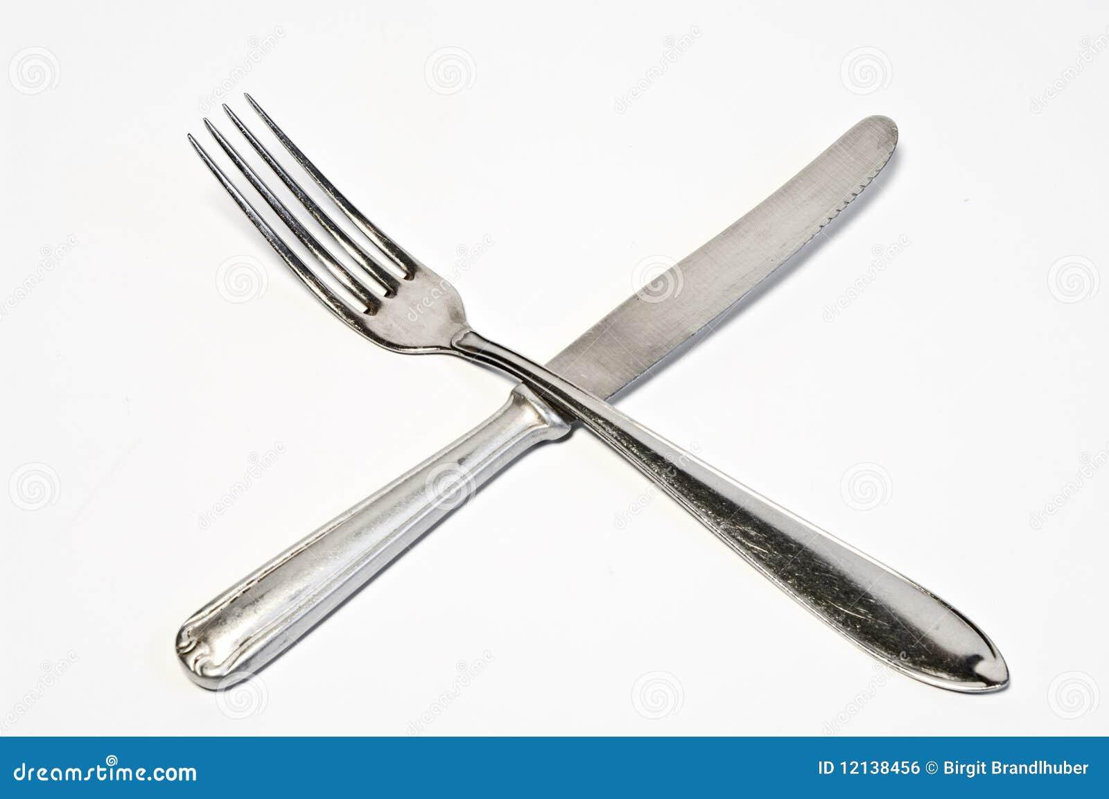 fourchette et couteau crois s image libre de droits image 12138456. Black Bedroom Furniture Sets. Home Design Ideas