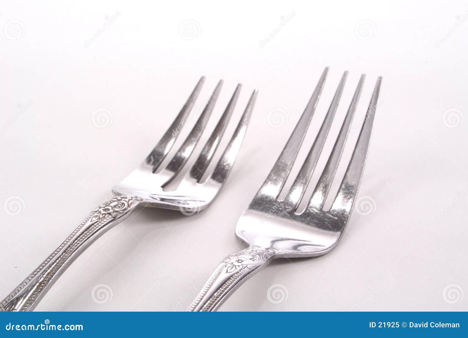 Fourchettes argentées