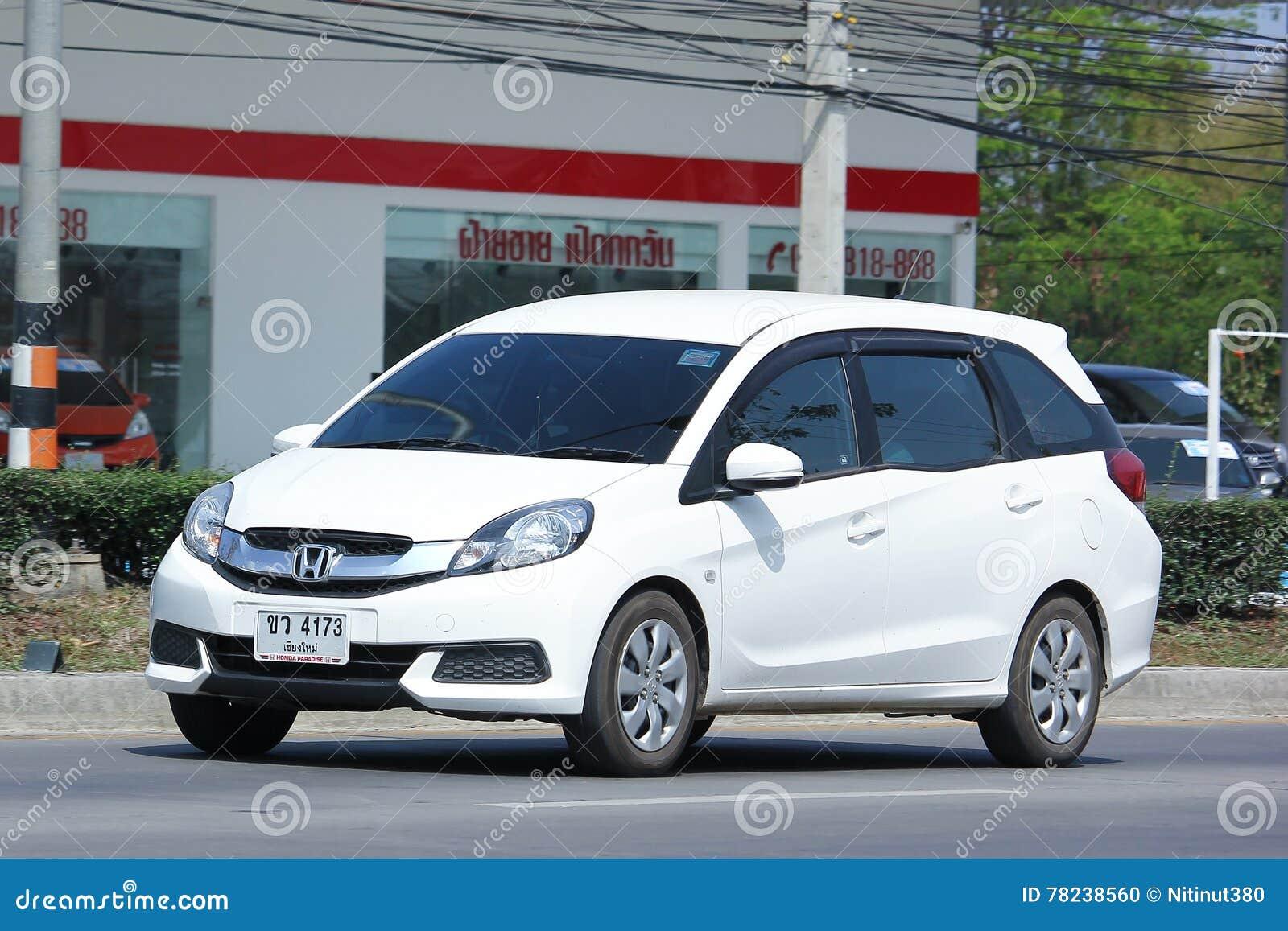 Fourgon Prive De Honda Mobilio Image Editorial