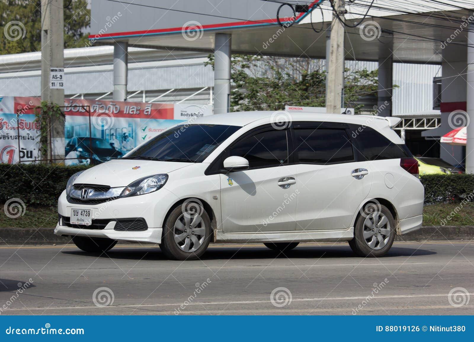Fourgon Prive De Honda Mobilio Photo Editorial