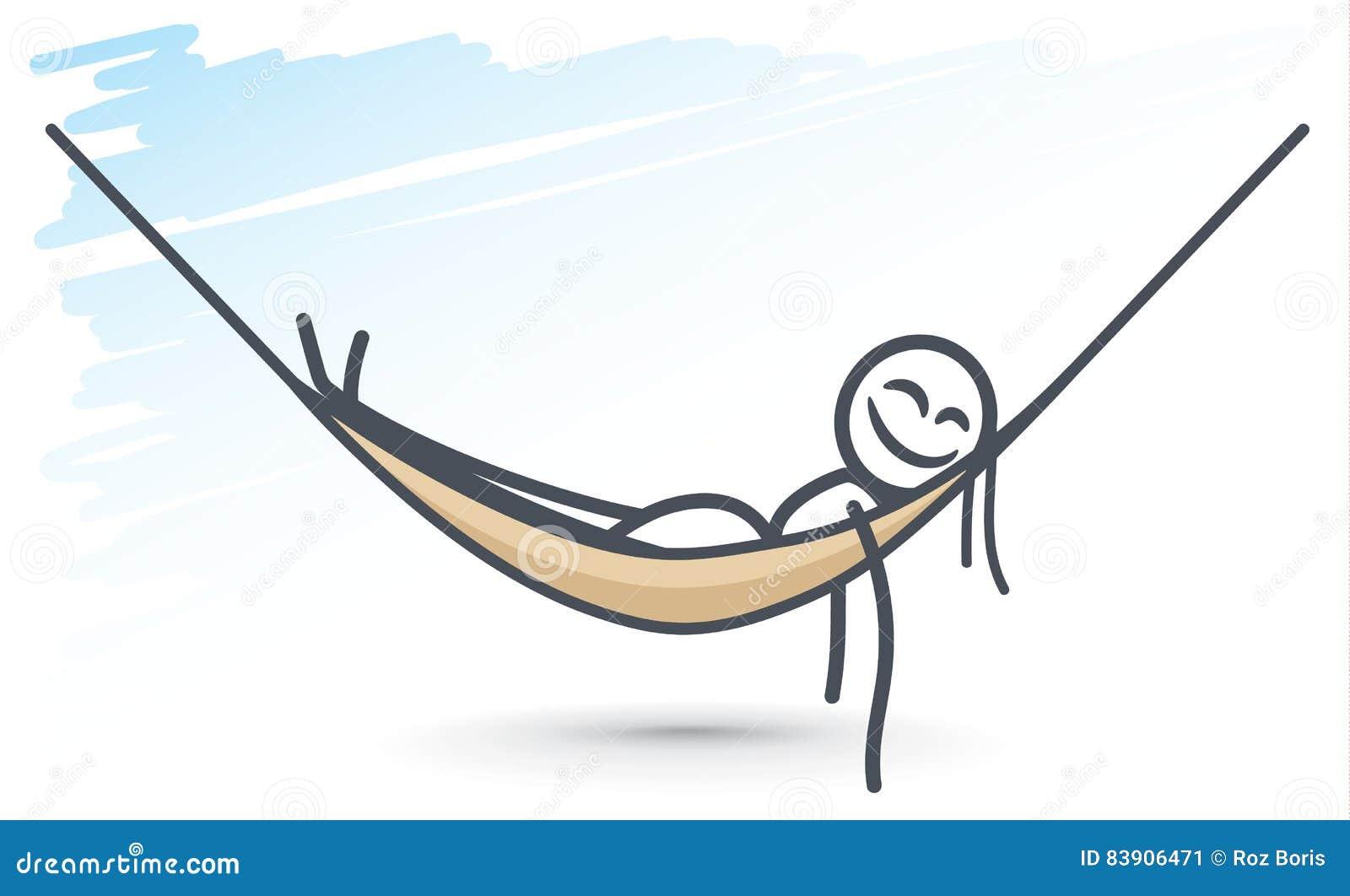 Fourmi Dans Un Hamac Illustration De Vecteur Illustration Du Animal