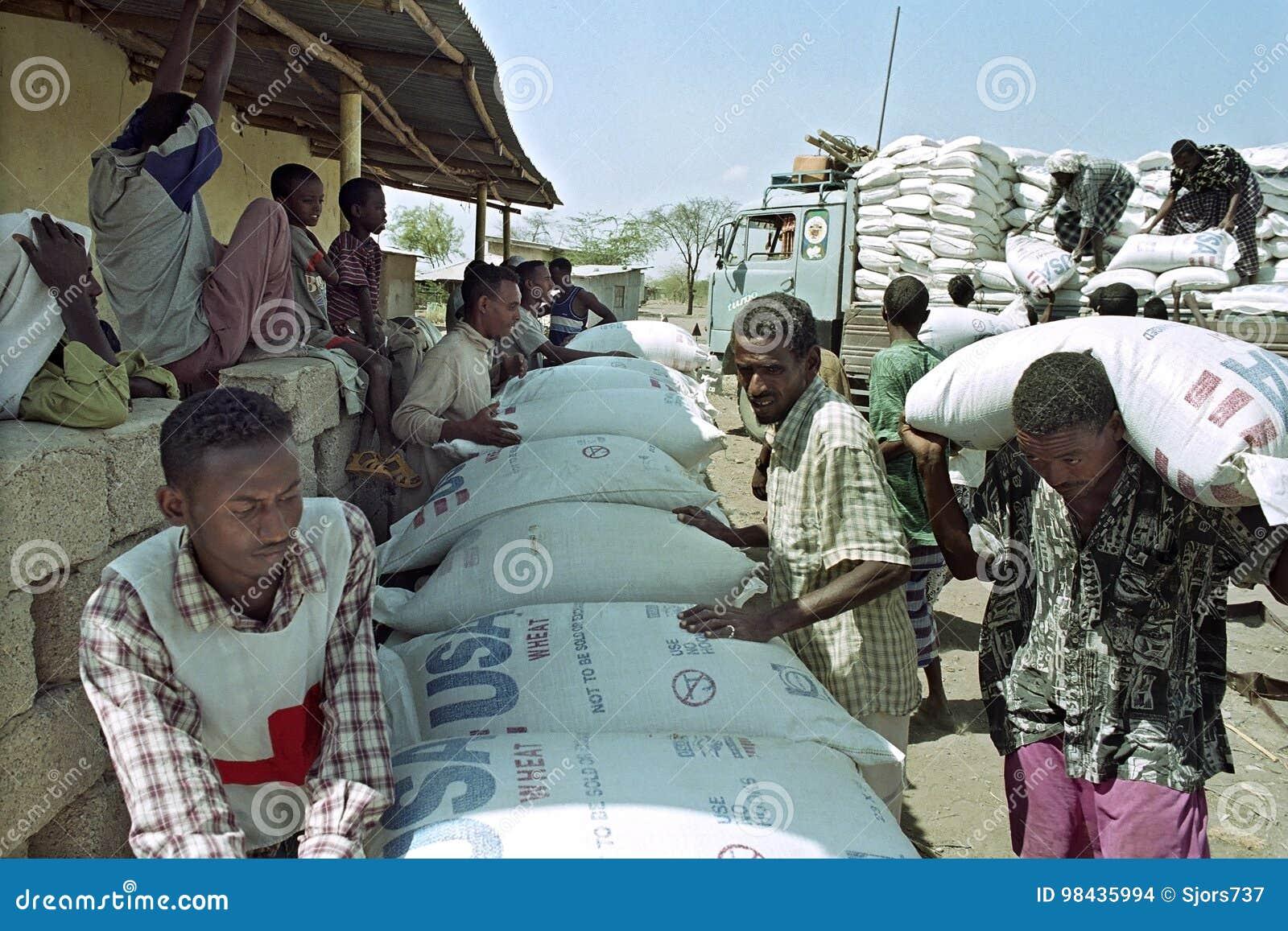 Fournissez l aide alimentaire pour loin par la Croix-Rouge en Ethiopie