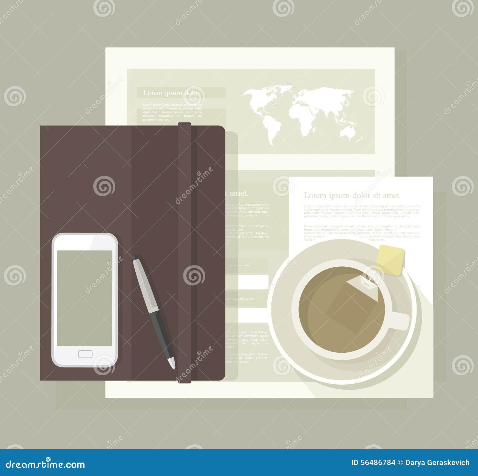 Fournitures de bureau et thé