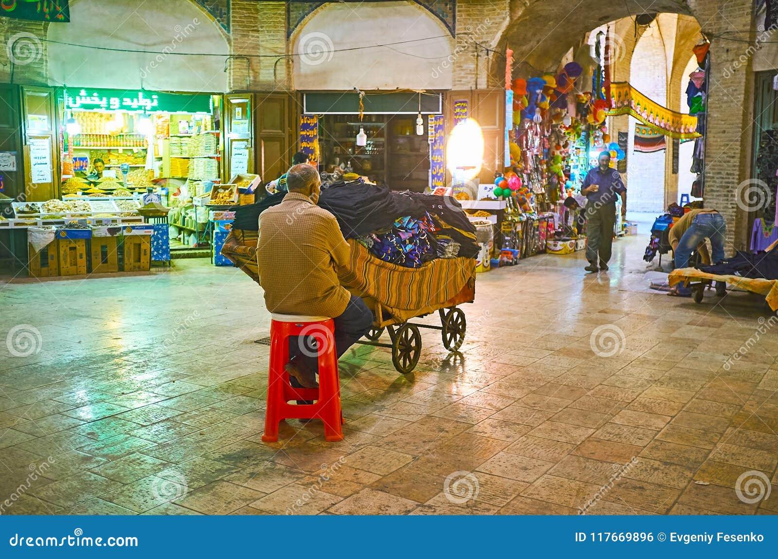 Foursquare Halle großartigen Basars Kermans, der Iran