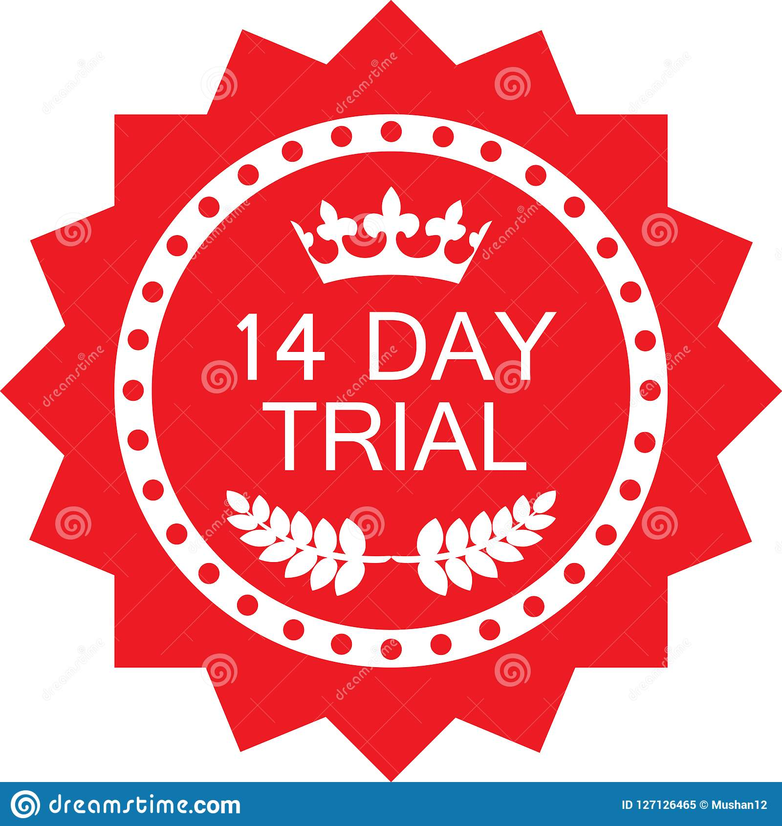 Fourteen Day Trial Luxury Red Badge Icon