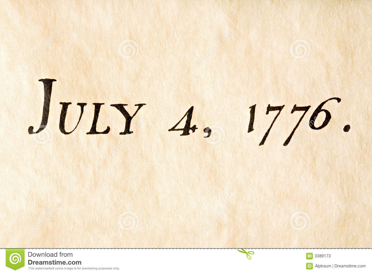 Fourth of july 1776 stock image  Image of writing, history - 3389173
