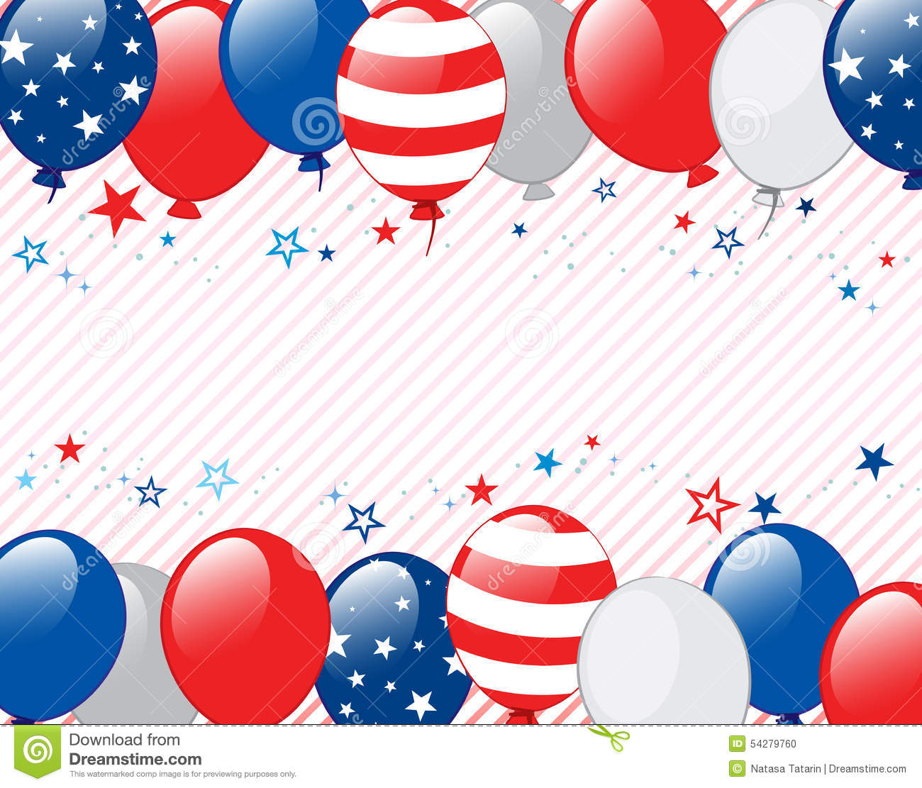 Fourth Of July Background Stock Vector Illustration Of Horizontal