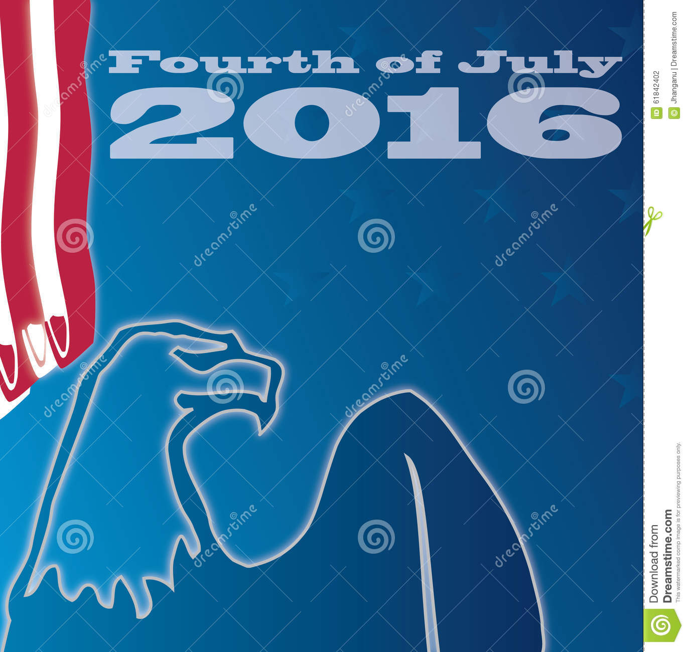 fourth of july 2016 stock vector illustration of abstract 61842402