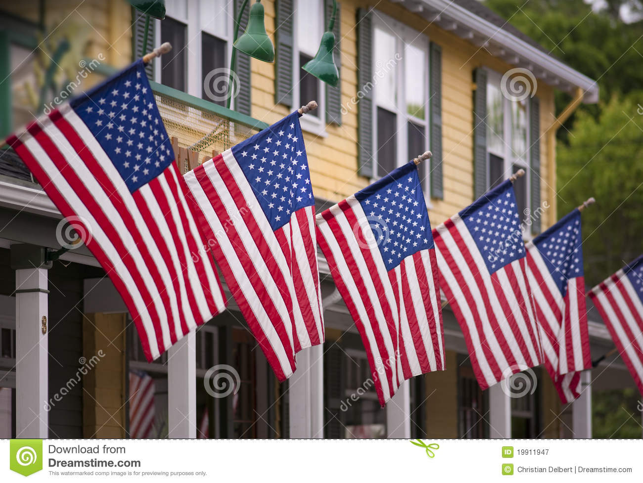 Fourth of July flags
