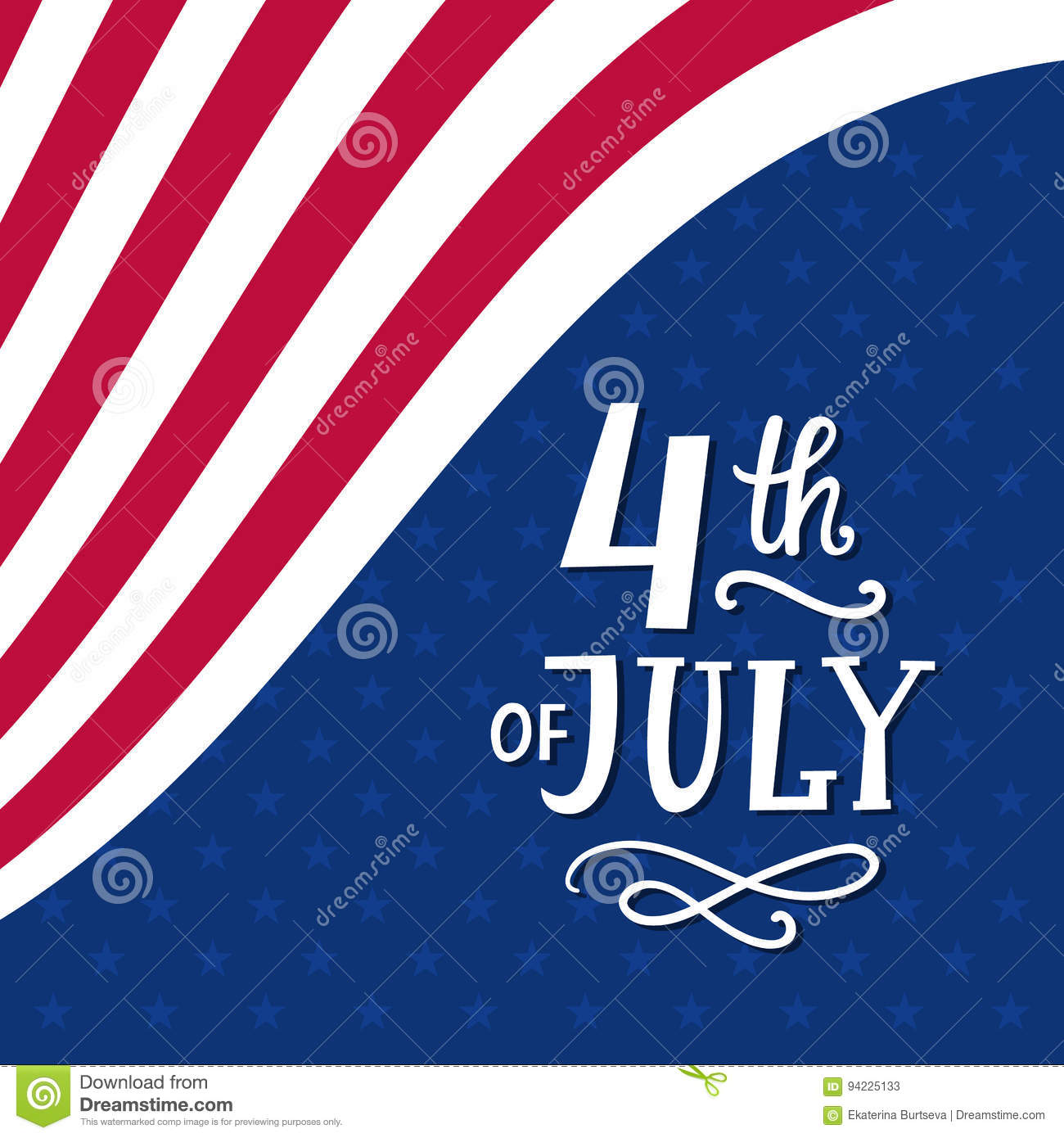be99c13020b0da Fourth Of July Hand Written Ink Lettering Stock Vector ...