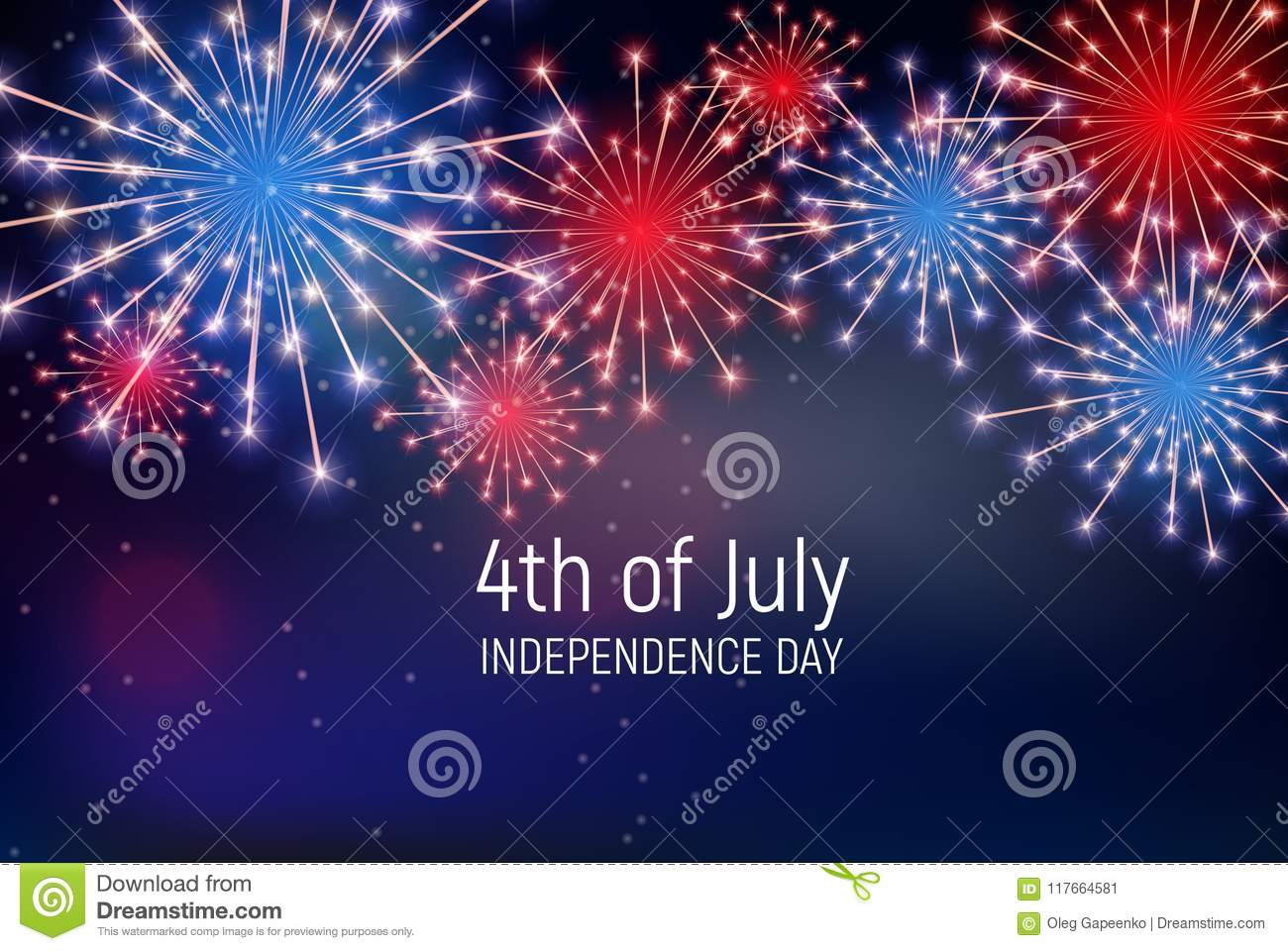 Fourth Of July Independence Day Of The United States Happy