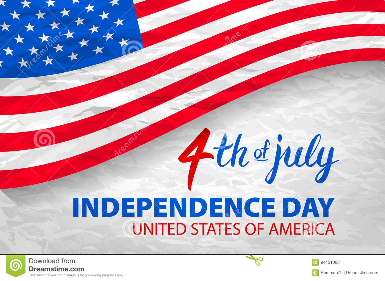 fourth of july usa independence day greeting card. 4 th of july