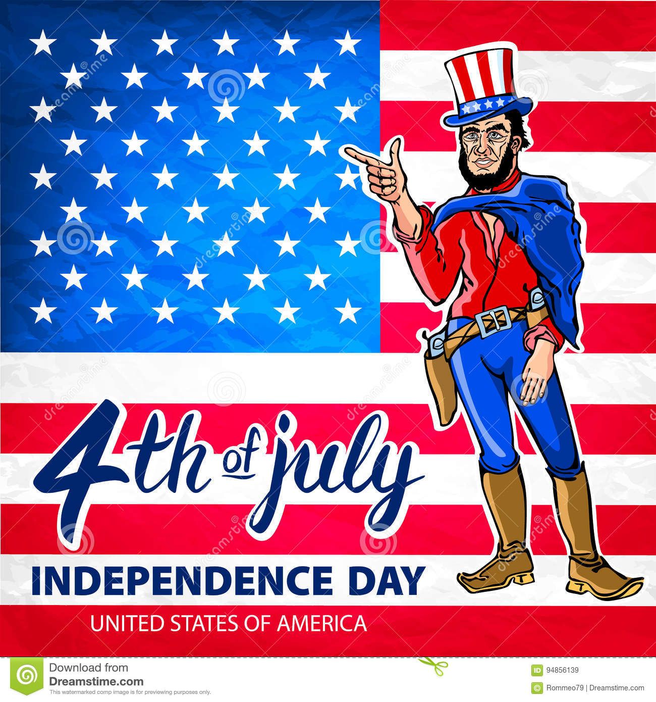 Fourth Of July Usa Independence Day Greeting Card 4 Th Of July