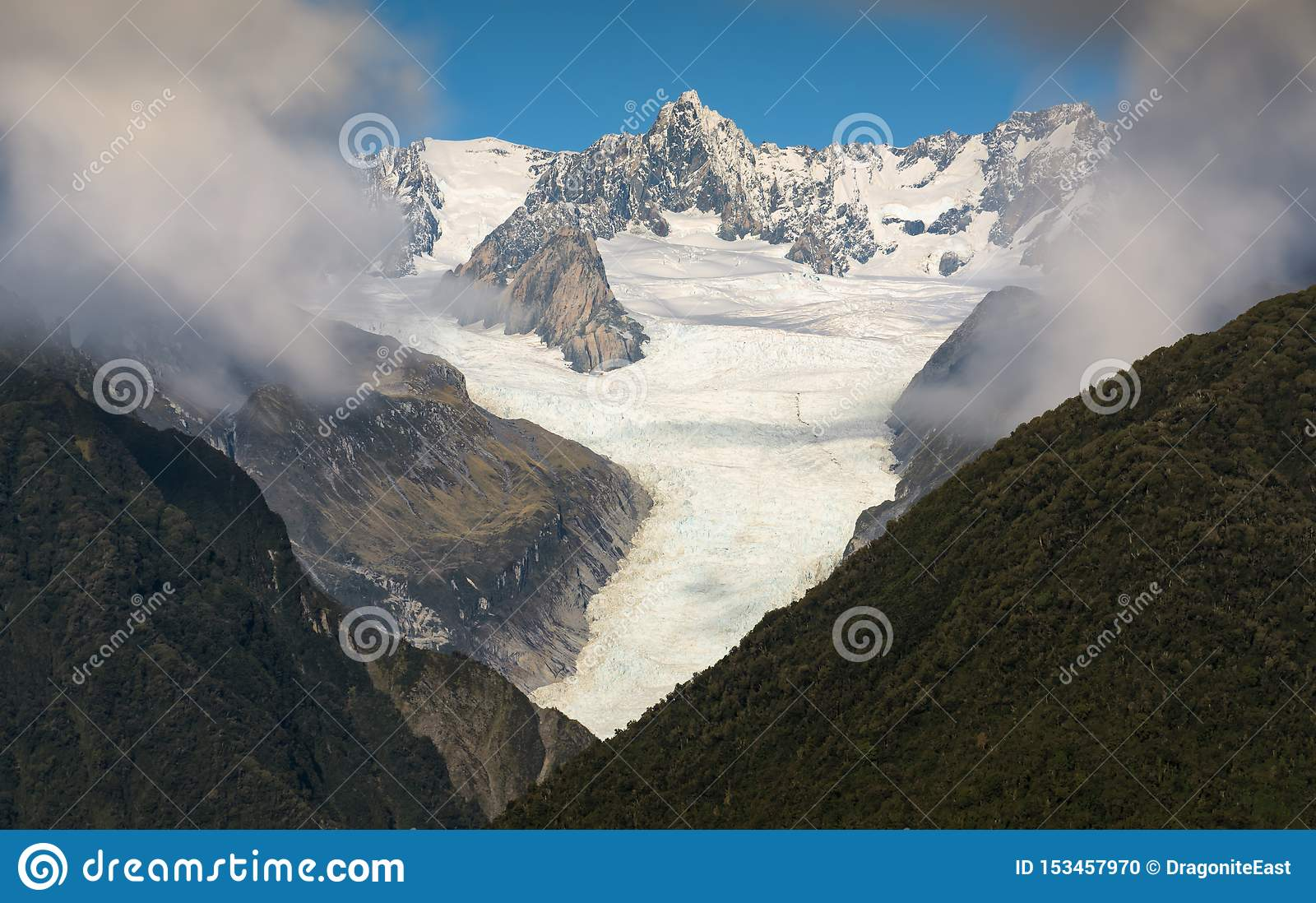 Fox冰川新西兰风景山风景