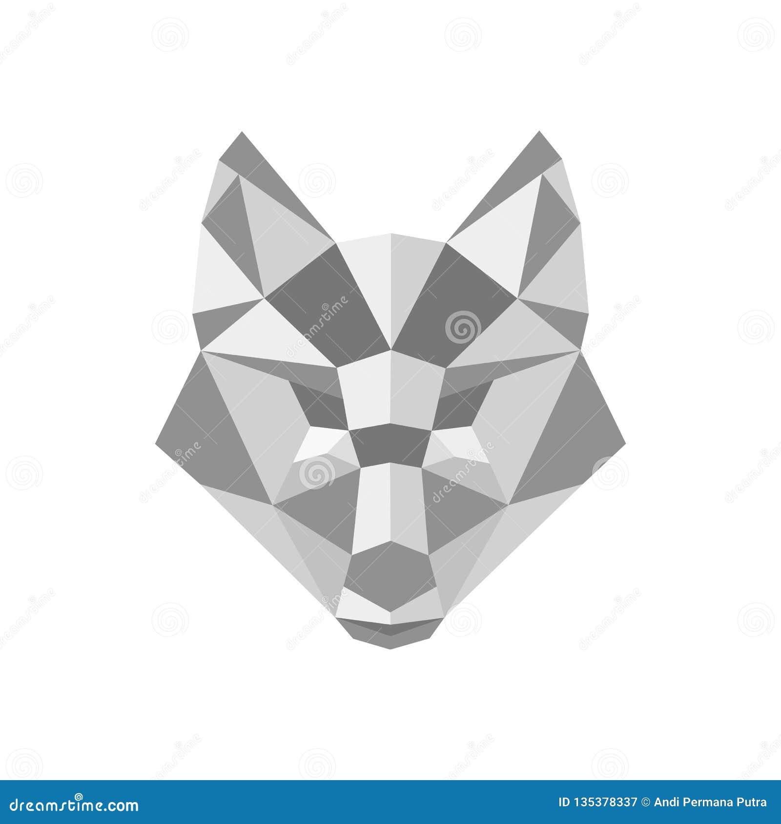 Fox多角形商标传染媒介设计