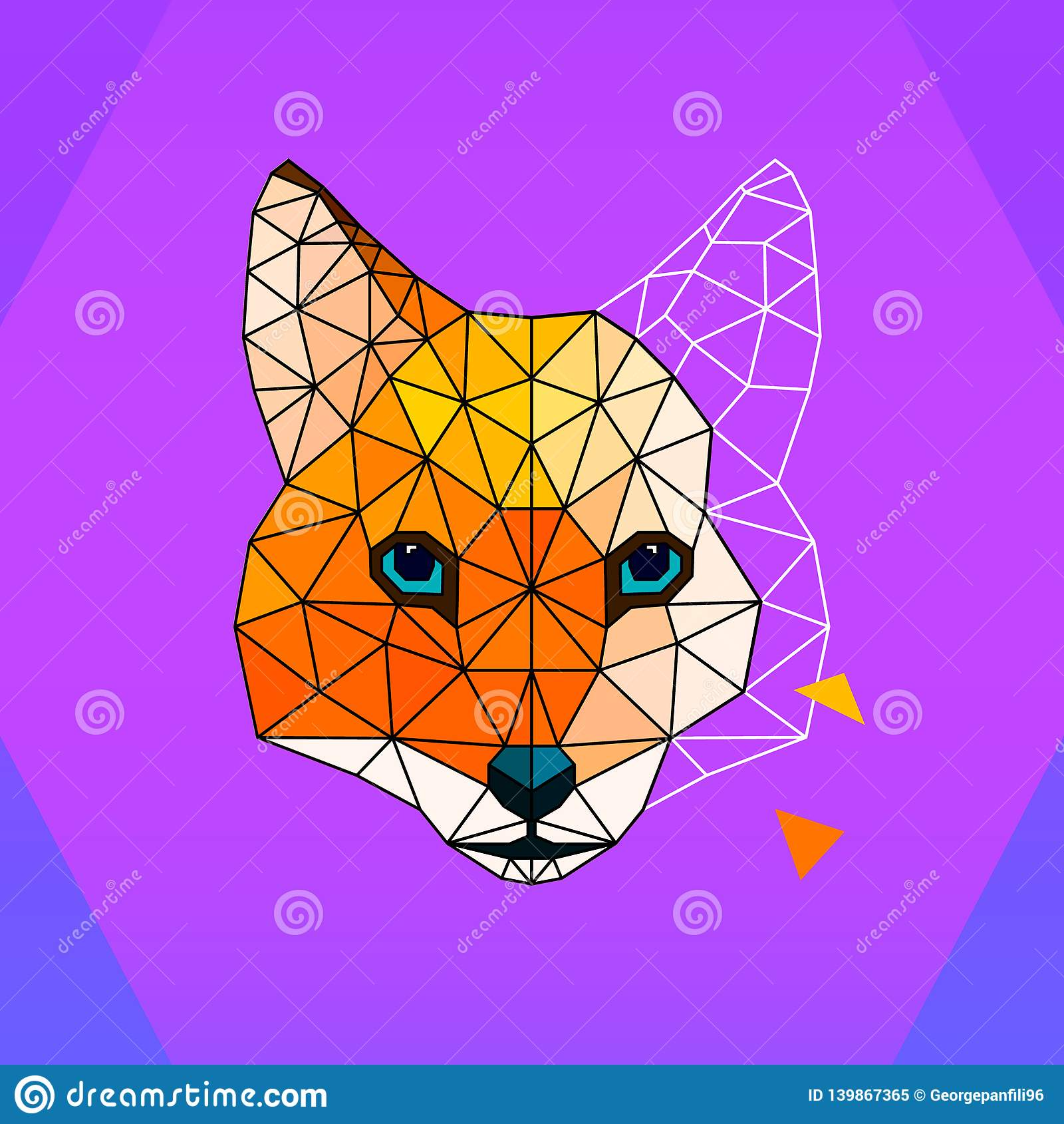 Fox多角形商标/象 艺术例证