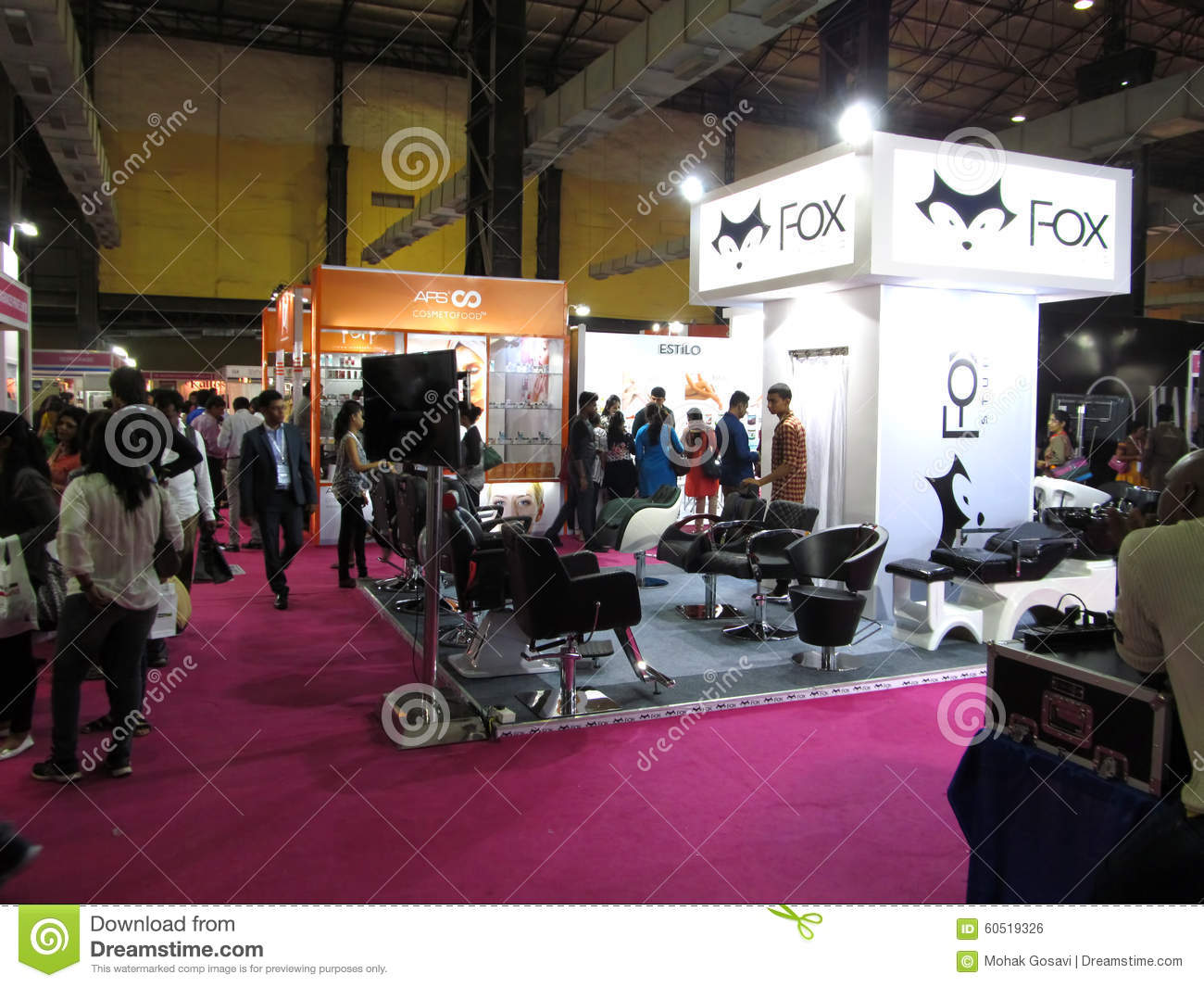 Exhibition Stall Vector Free Download : Fox exhibition stall editorial photo image