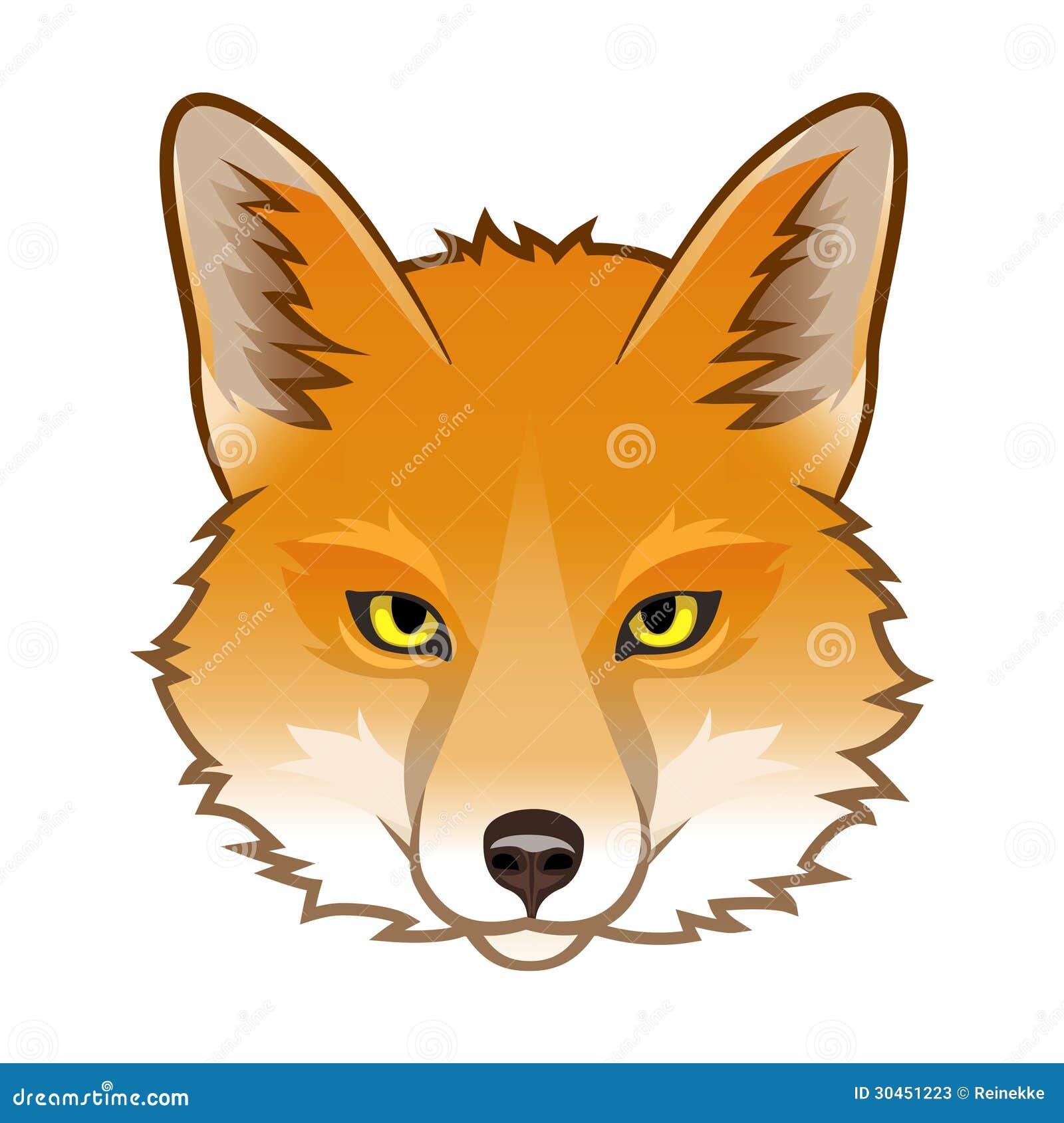 Simple fox head outline - photo#24