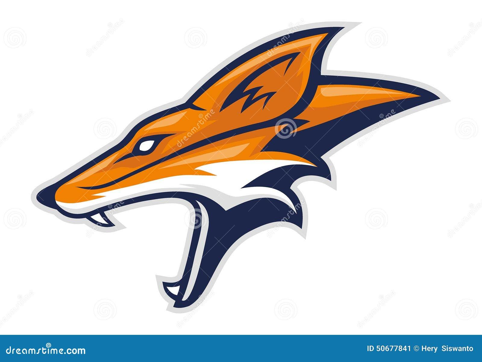 Fox Head Side Stock Vector - Image: 50677841