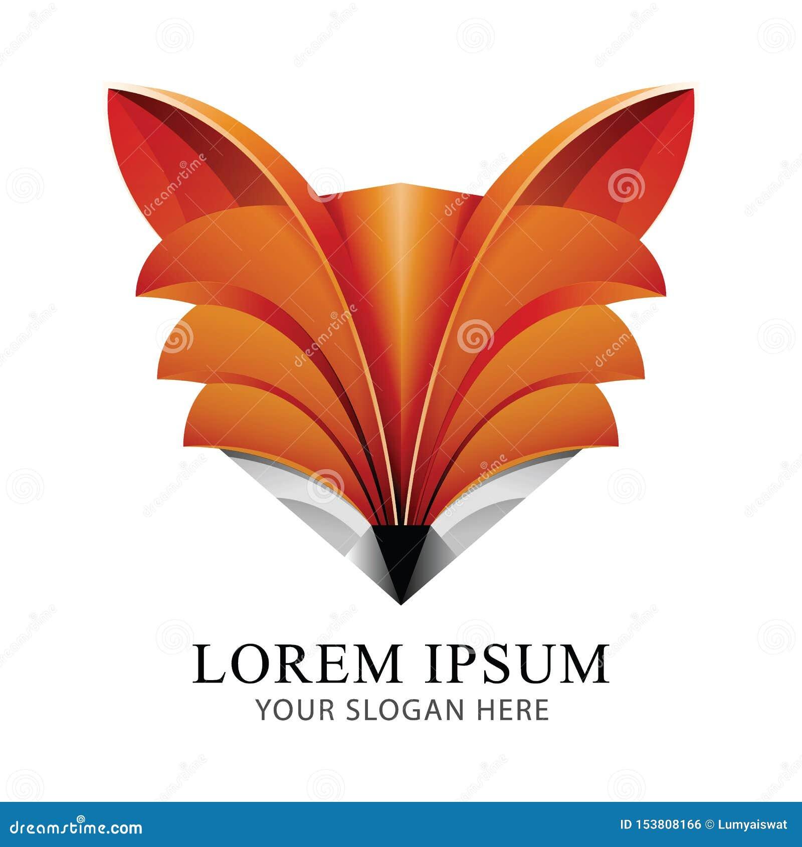 Fox Logo Identity Brand design vector template