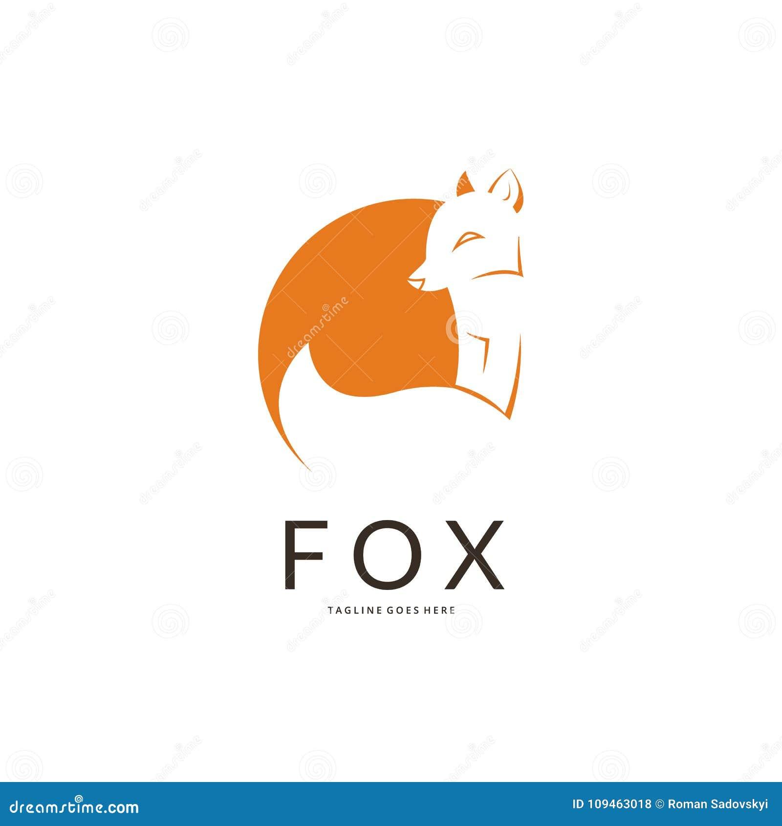 Fox Logo Vector Image Of A Fox Design On A White Background Vector