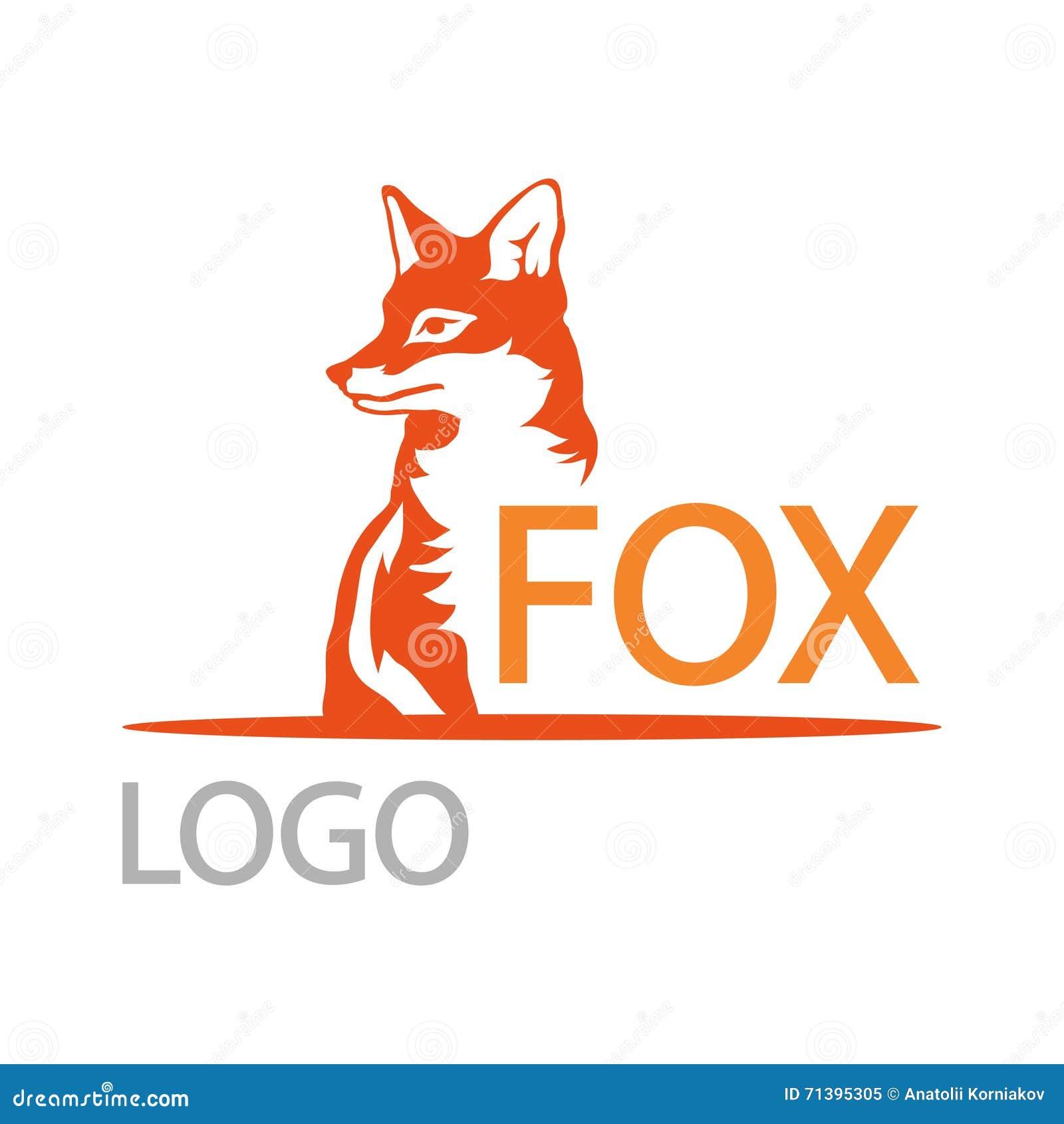 fox logo stock vector illustration of symbol tattoo