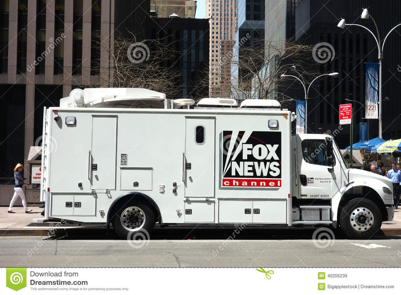 Fox News Channel Truck Editorial Stock Image - Image: 40206239