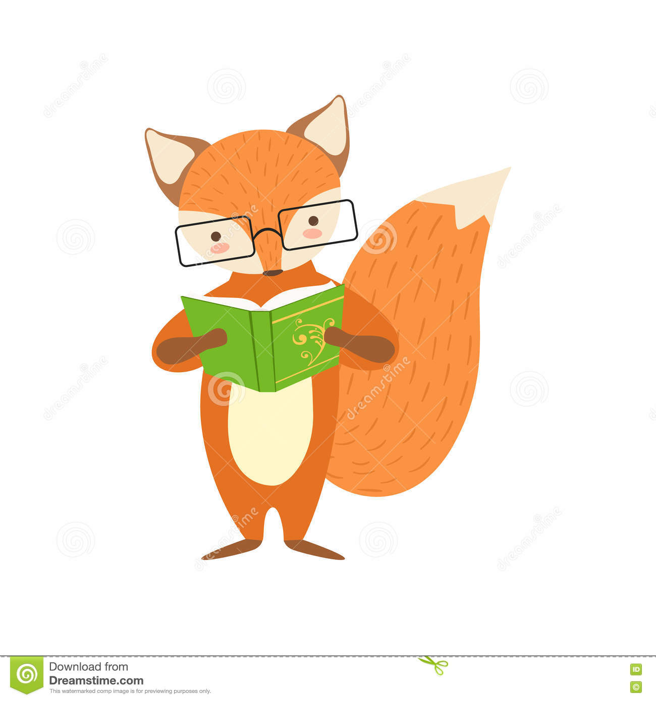 free clip art animals reading books - photo #50