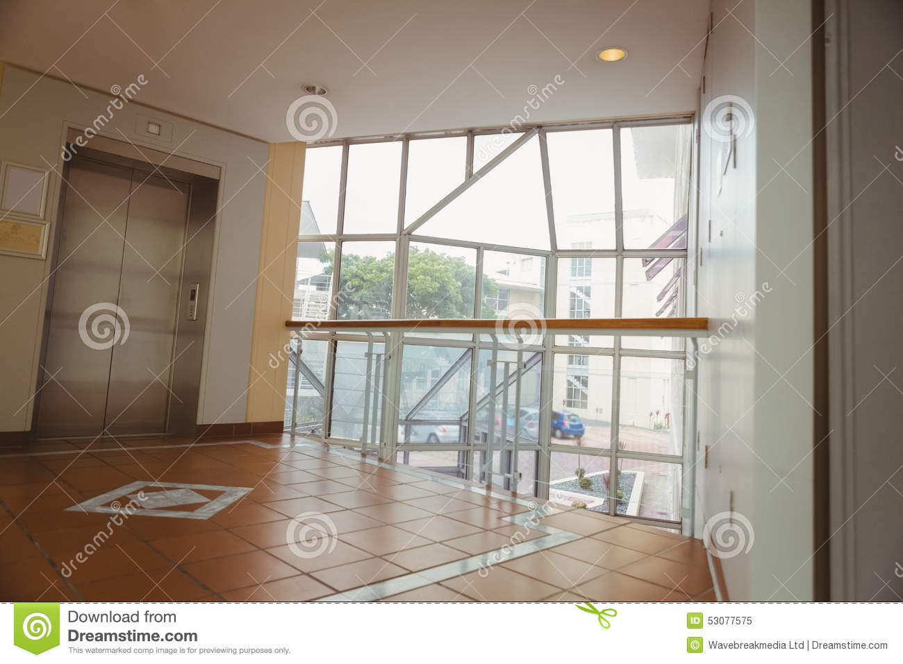 Foyer Window Cost : Foyer area with elevator stock photo image